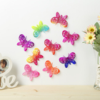 """Magnet plastic """"Butterfly with sequins"""" MIX 5,2x7,5 cm"""