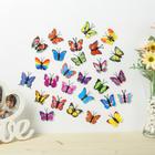 "Magnet plastic ""Little butterfly"" MIX 4 cm"
