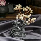 "Souvenir ""Money tree dragon"" 48 pearls 15х9х5 cm"