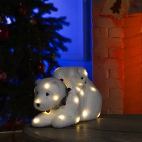 """Фигура световая """"Медведь и медвежонок"""", 28 LED, 26х16х16 см, фиксинг, от батар. (не в компл)"""