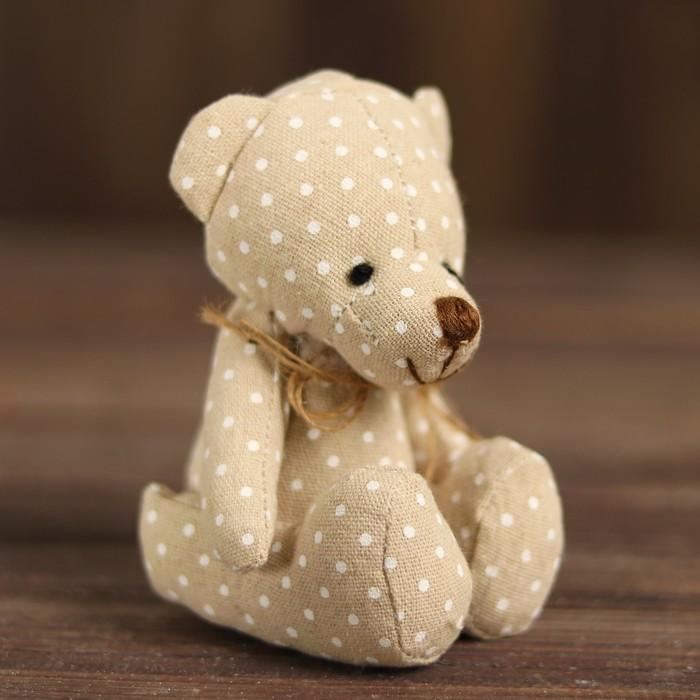 Мягкая игрушка «Мишка с бантиком», виды МИКС - фото 4467387