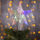 """The figure of """"the Christmas Star transparent"""" 15x15 cm, plastic, 10 LED, 2 m wire, 240V RG/RB"""