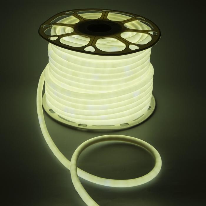 Гибкий неон круглый D 10 мм, 50 метров, LED-120-SMD2835, 220 V, БЕЛЫЙ