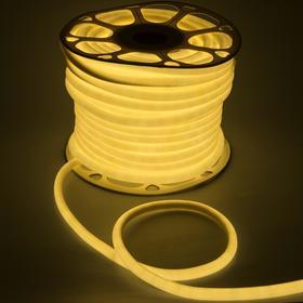 Гибкий неон круглый, D=10 мм, 50 м, LED/м-120-SMD2835-220V, Т/БЕЛЫЙ