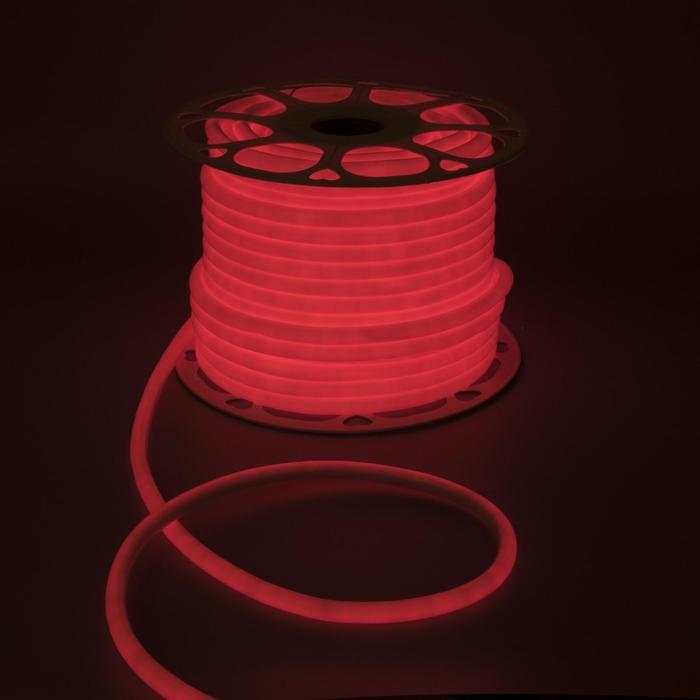 Гибкий неон круглый, D=10 мм, 50 м, LED/м-120-SMD2835-220V, КРАСНЫЙ