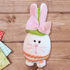 """Набор для создания подвесной игрушки из фетра """"Зайчик в шляпке"""", цвет зеленый"""
