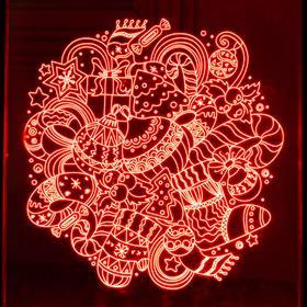 """Рамка светящаяся """"Игрушки"""", 13.5х17 см, USB, 5V , 10 LED, RGB - фото 1383837"""