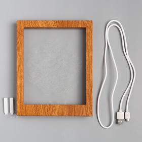 """Рамка светящаяся """"Игрушки"""", 13.5х17 см, USB, 5V , 10 LED, RGB - фото 1383839"""