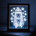 """Рамка светящаяся """"Девочка"""", 13.5х17 см, USB, 5V , 10 LED, RGB - фото 1383848"""