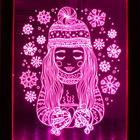 """Рамка светящаяся """"Девочка"""", 13.5х17 см, USB, 5V , 10 LED, RGB - фото 1383849"""