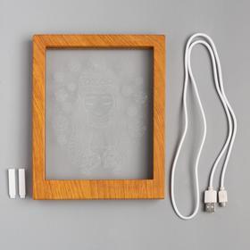 """Рамка светящаяся """"Девочка"""", 13.5х17 см, USB, 5V , 10 LED, RGB - фото 1383851"""