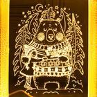 """Рамка светящаяся """"Мишка"""", 13.5х17 см, USB, 5V , 10 LED, Т/БЕЛЫЙ - фото 1383857"""