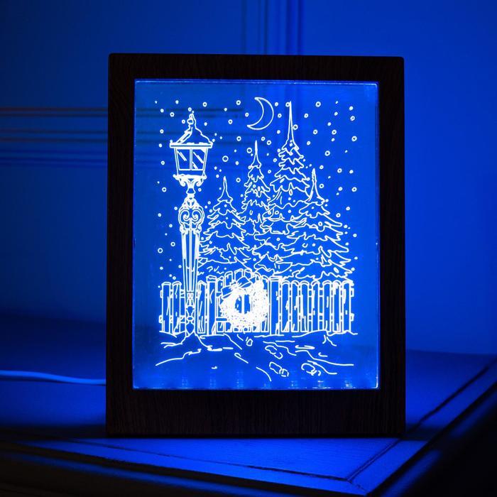 """Рамка светящаяся """"Фонарь"""", 13.5х17 см, USB, 5V, 10 LED, RGB"""