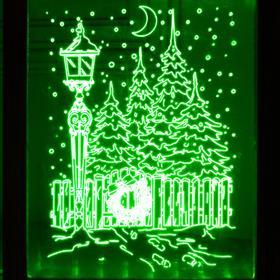 """Рамка светящаяся """"Фонарь"""", 13.5х17 см, USB, 5V, 10 LED, RGB - фото 1383909"""