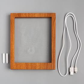 """Рамка светящаяся """"Фонарь"""", 13.5х17 см, USB, 5V, 10 LED, RGB - фото 1383911"""