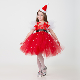 Карнавальный костюм «Санточка», сделай сам, корсет, ленты, брошки, аксессуары