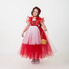 Карнавальный костюм «Красная шапочка», сделай сам, корсет, ленты, брошки, аксессуары