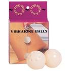 Вагинальные шарики Dream Toys, ABS пластик, белый, d 3,5 см