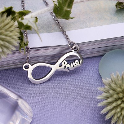 """Pendant assorted """"Steel"""" infinity, color silver, 45 cm"""