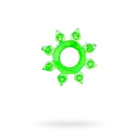 Эрекционное кольцо на пенис TOYFA, TPE, зеленый Ош
