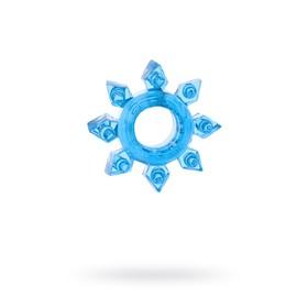 Эрекционное кольцо на пенис TOYFA, TPE, синий Ош