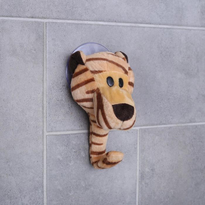 Крючок на вакуумной присоске «Тигрёнок», цвет бежевый
