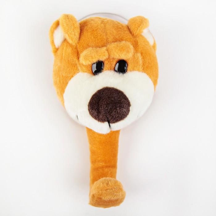 Крючок на вакуумной присоске «Медвежонок», цвет коричневый