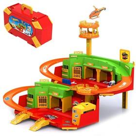 Игровой набор «Хот Вилс» с вертолетной площадкой