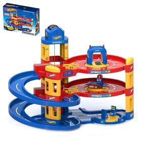Игровой набор Hot Wheels 3в1, автомойка, заправка, автосервис