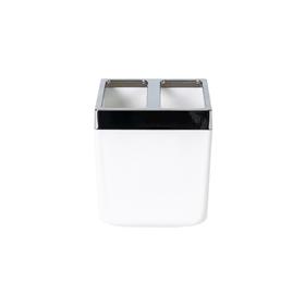 Стакан для зубной пасты и щётки Toskana, цвет белый