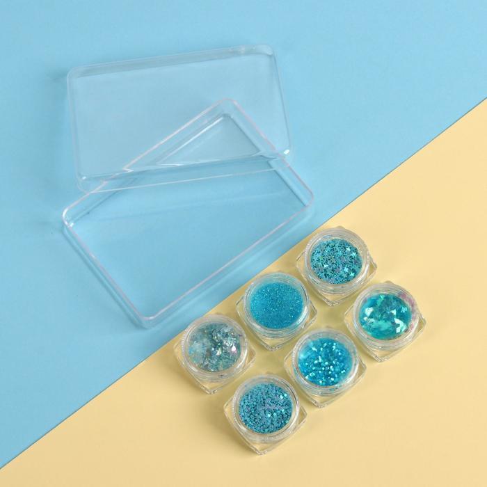 Набор для декора «SHINE», цвет голубой
