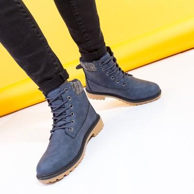 Ботинки женские A-11 MINAKU синий р. 41