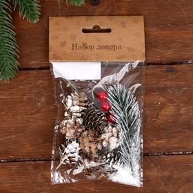 Набор новогоднего декора «Морозные шишки»