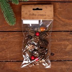 Набор новогоднего декора «Пряные шишки»