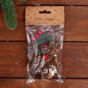 Набор новогоднего декора «Шишки и ягодки»