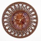 "Wall clock, series: Interior, ""Merbau"", 25x25 cm"