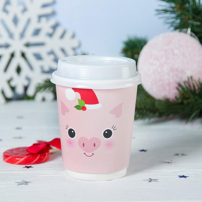 """РЯД из 2 ШТ!Кофе молотый в бумажном стакане 30 г """"Пусть Новый год будет насыщенным"""""""