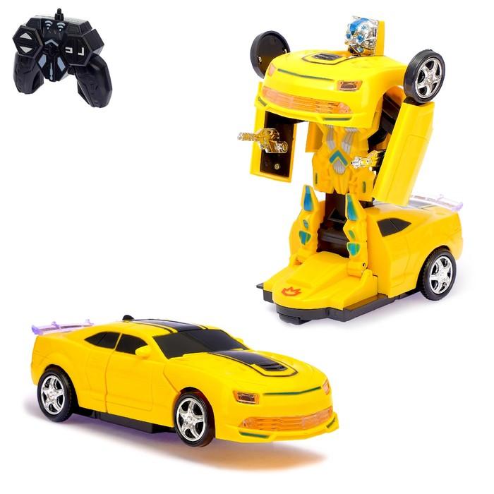 Робот-трансформер радиоуправляемый «Автобот», световые и звуковые эффекты