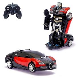 Робот-трансформер радиоуправляемый «Гонщик», световые и звуковые эффекты, цвета МИКС