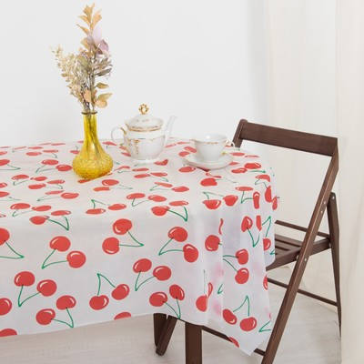 Tablecloth to give the hostess cherry 140×180 cm