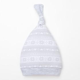 Чепчик (шапочка) 'Зимние мотивы', размер 40,100% хл Ош