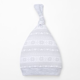Чепчик (шапочка) 'Зимние мотивы', размер 44, 100% хл Ош
