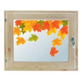 Окно, 40х60см, Декор 7, двойной стеклопакет (хвоя) Добропаровъ Ош