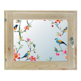Окно, 40х60см, Декор 8, двойной стеклопакет (хвоя) Добропаровъ Ош