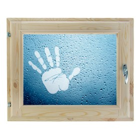 Окно, 40х60см, Декор 11, двойной стеклопакет (хвоя) Добропаровъ Ош
