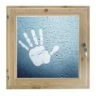 """Окно 50х50 см, """"Рука"""", двойной стеклопакет, хвоя, """"Добропаровъ"""""""