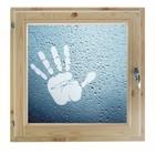 """Окно 80х80 см, """"Рука"""", двойной стеклопакет, хвоя, """"Добропаровъ"""""""