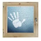 """Окно 90х90 см, """"Рука"""", двойной стеклопакет, хвоя, """"Добропаровъ"""""""