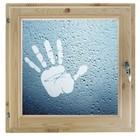 """Окно 50х60 см, """"Рука"""", двойной стеклопакет, уплотнитель, хвоя, """"Добропаровъ"""""""