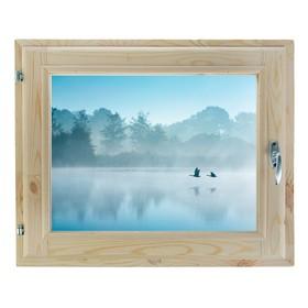 Окно, 40х60см, Декор 12, двойной стеклопакет (хвоя) Добропаровъ Ош